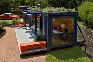 Shipping Container Studio in San Antonio-Texas-USA